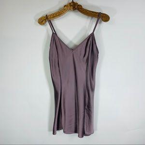 Victoria's Secret Purple 100% Silk Chemise Medium